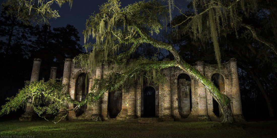 South Carolina Old Sheldon Ghost Church