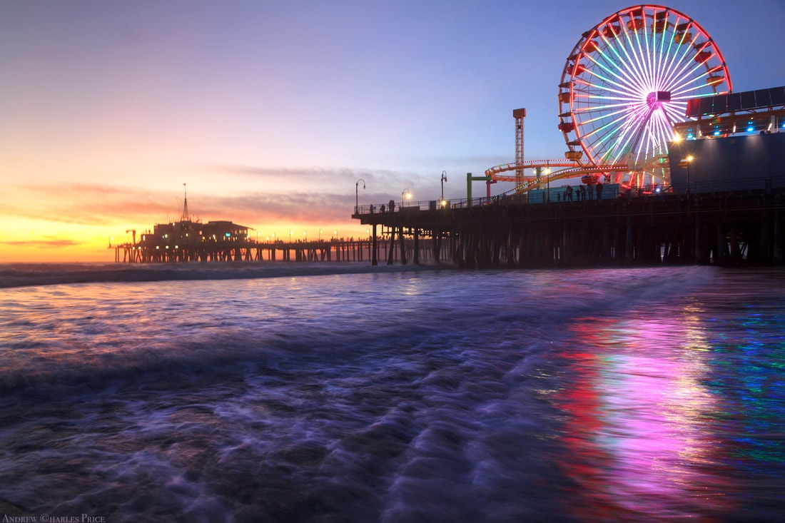 California Santa Monica Pier Sunset